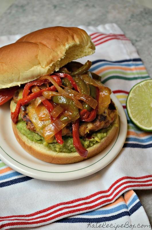 Chicken Fajita Burgers 3