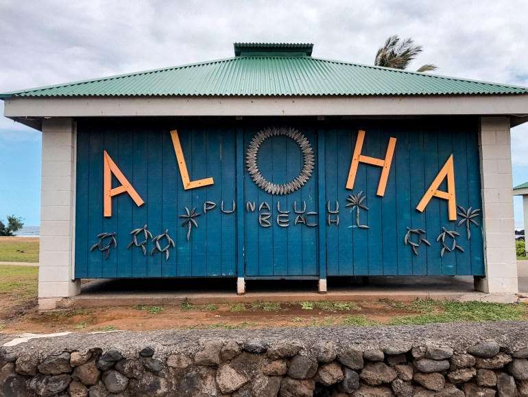 Punaluu Black Sand Beach - Big Island, Hawaii