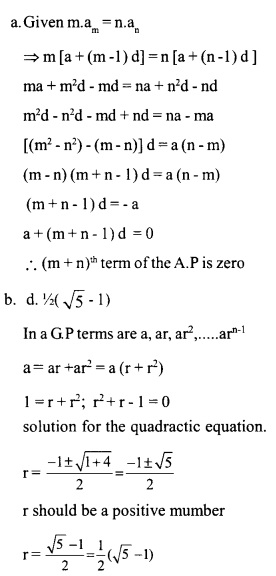 HSSlive Plus One Maths Chapter Wise Questions and Answers Chapter 9 Sequences and Series 25