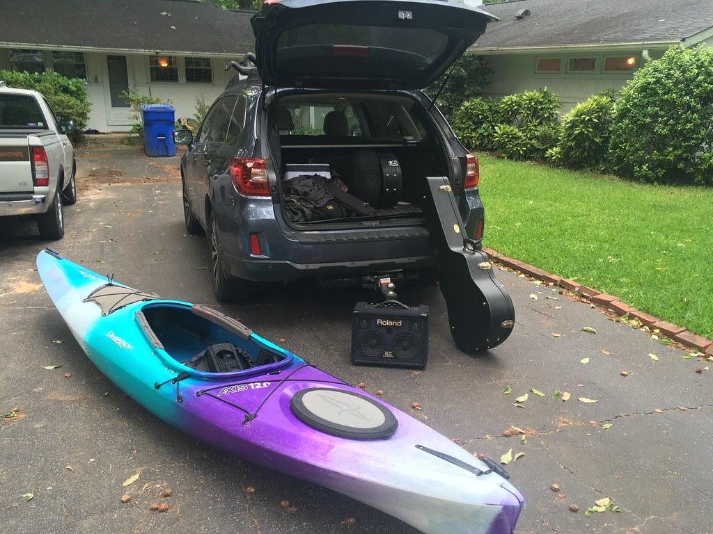 Unload music gear.  Load kayak gear.  Unload kayak gear.  Load music gear.  Rinse.  Repeat.