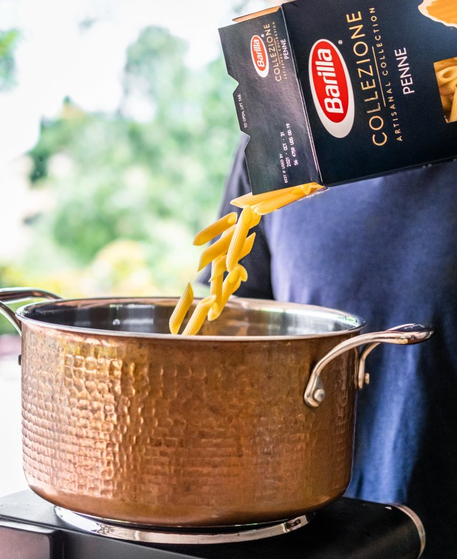 penne is the perfect pasta to accompany these fresh sautéed vegetables