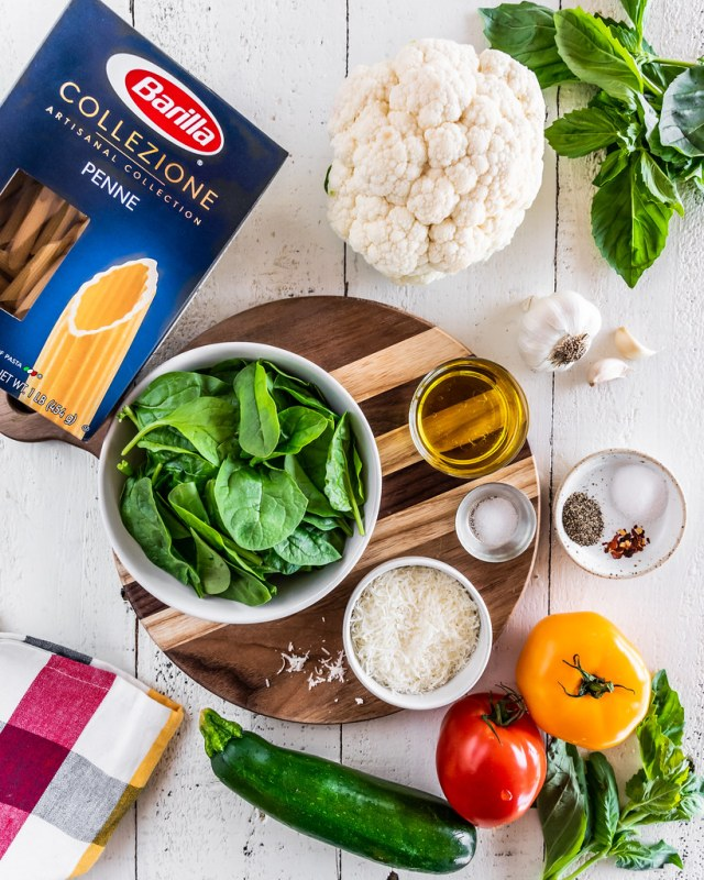 summer ingredients for a summer pasta