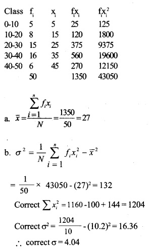 HSSlive Plus One Maths Chapter Wise Questions and Answers Chapter 15 Statistics 26
