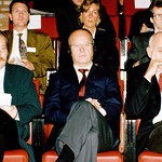 Michael Erlhoff, Alberto Alessi, Richard Sapper; Gruendung Lucky Strike Designer Award Hamburg 1992