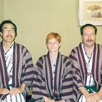 Kunihiko Nakagawa, Uta Brandes, Michael Erlhoff, ON-sen Hakone Japan Dez 2000