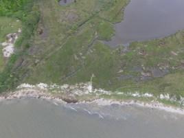 Aerial photo of Maryland coastline
