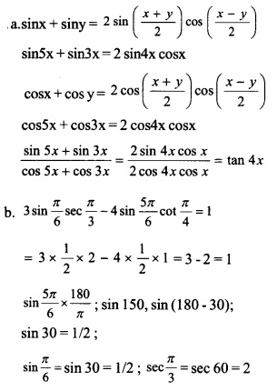 HSSlive Plus One Maths Chapter Wise Previous Questions Chapter 3 Trigonometric Functions 15
