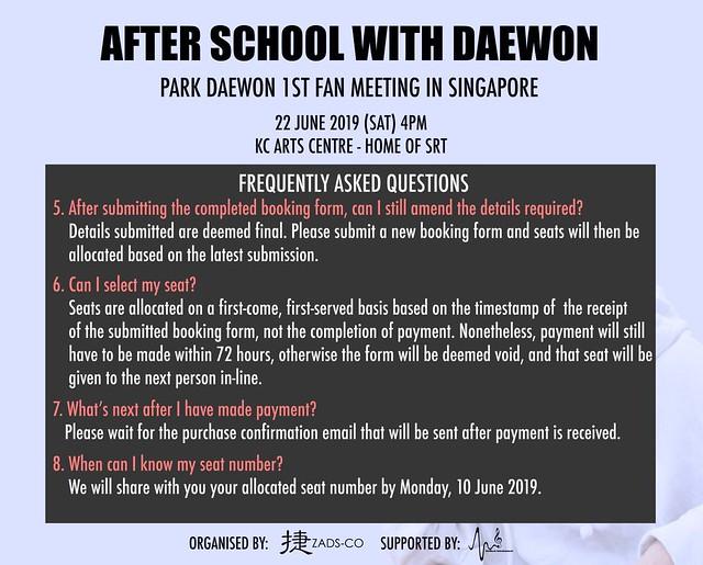 Park Daewon in Singapore FAQ2