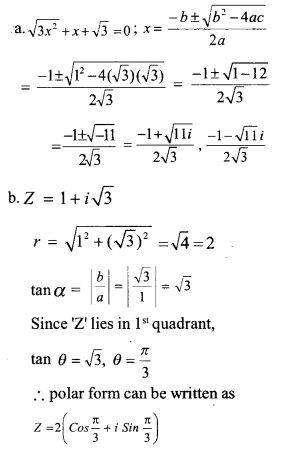 HSSlive Plus One Maths Chapter Wise Previous Questions Chapter 5 Complex Numbers and Quadratic Equations 7