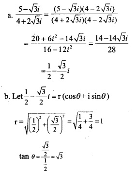 HSSlive Plus One Maths Chapter Wise Previous Questions Chapter 5 Complex Numbers and Quadratic Equations 9