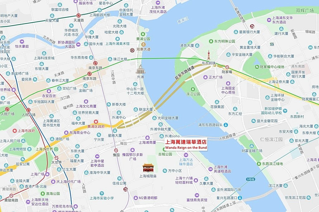 Wanda Reign on the Bund Map