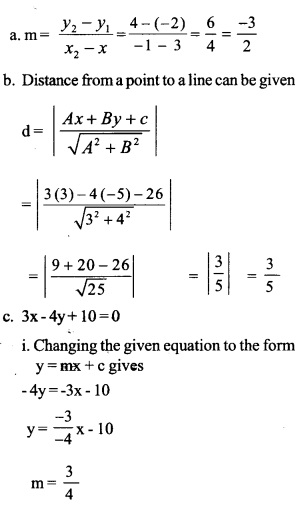 HSSlive Plus One Maths Chapter Wise Previous Questions Chapter 10 Straight Lines 5