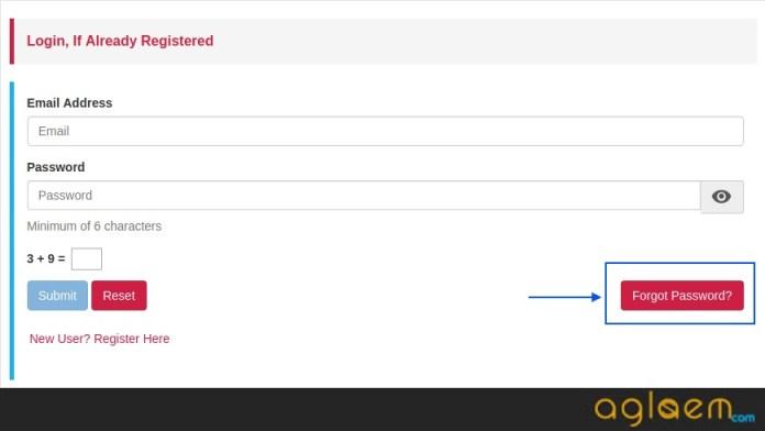 CSIR UGC NET Forget Password