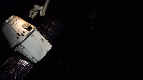The SpaceX Dragon cargo craft released from the Canadarm2