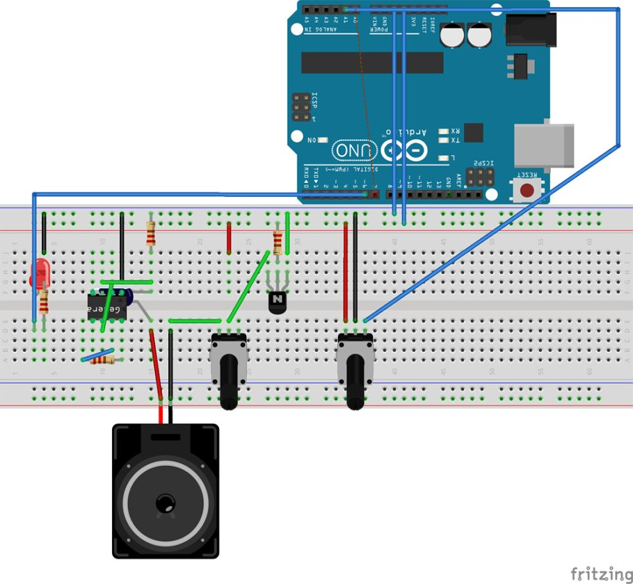 Echoendrus Arduino and NE555 project
