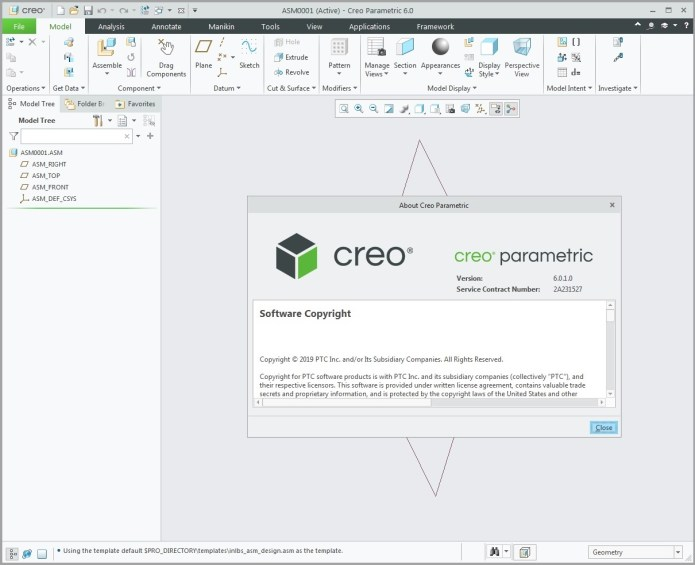 Working with PTC Creo parametric 6.0.1.0 full license