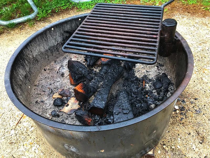 Campfire remnants