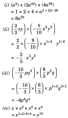 NCERT Solutions for Class 8 Maths Algebraic Expressions and Identities Ex 9.3 Q3.1