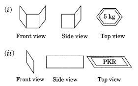 Visualising Solid Shapes NCERT Extra Questions for Class 8 Maths Q6.1