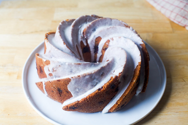 glazed triple berry summer buttermilk bundt