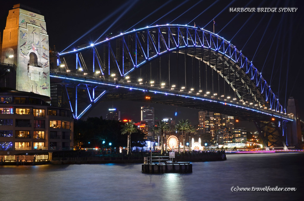 Harbour Bridge Sydney at night-4K