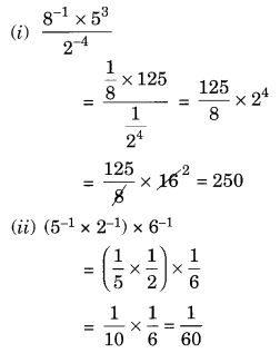 NCERT Solutions for Class 8 Maths Chapter 12 Exponents and Powers Q4.1
