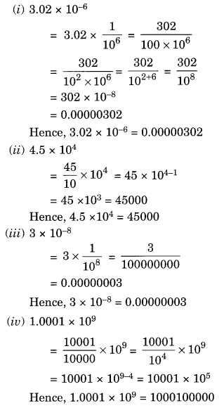 NCERT Solutions for Class 8 Maths Exponents and Powers Ex 12.2 Q2