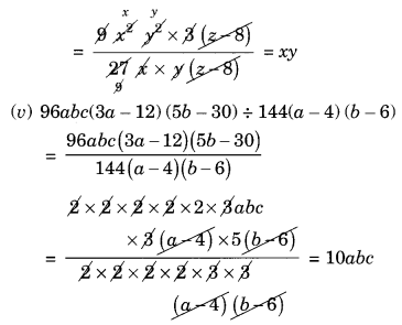 NCERT Solutions for Class 8 Maths Factorisation Ex 14.3 Q3.1