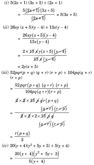 NCERT Solutions for Class 8 Maths Factorisation Ex 14.3 Q4