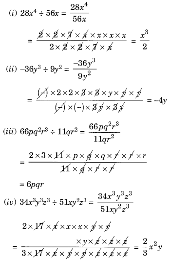 NCERT Solutions for Class 8 Maths Factorisation Ex 14.3 Q1