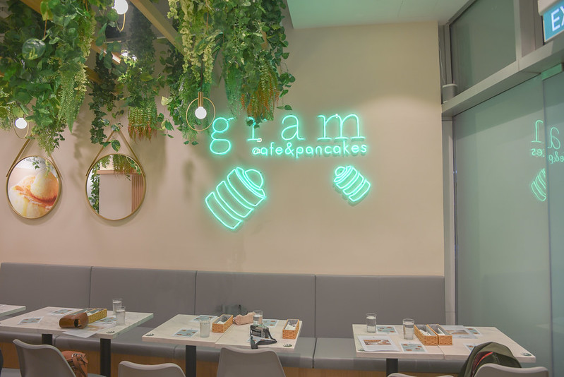 gram cafe and pancakes interior in vivocity