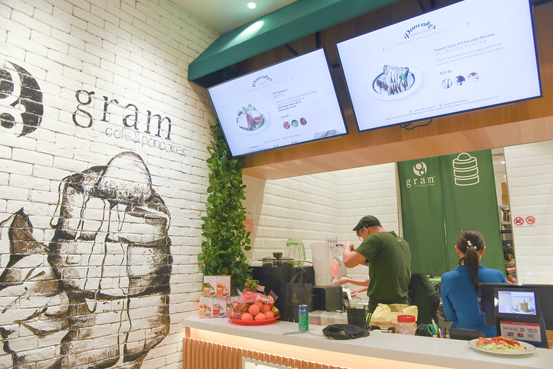 gram cafe and pancakes interior - vivocity