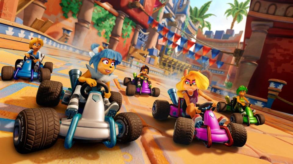 Crash Team Racing  -  Trophy Girls
