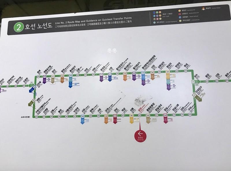2号線の路線図