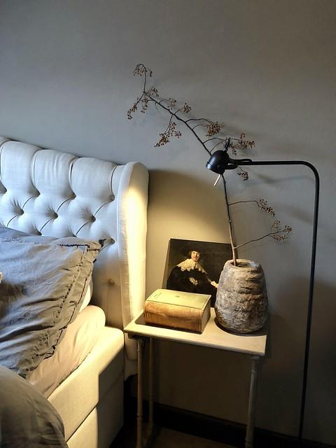 Linnen beddengoed landelijke slaapkamer
