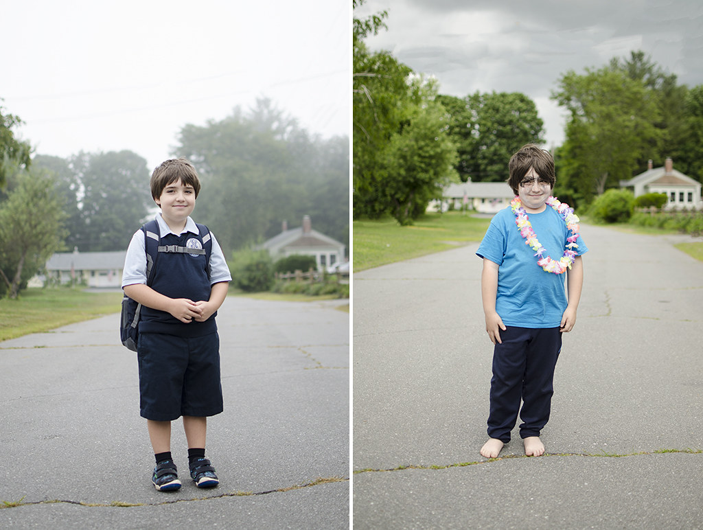 Zane first and last day of 2nd grade