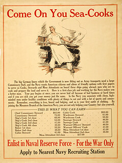 WWI Navy Cook Recruitment Poster