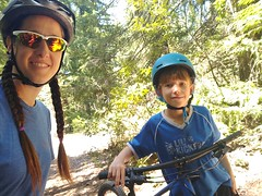 Mom & Son Mountain Biking