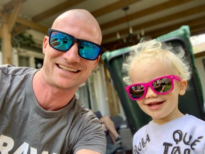 Sunglasss fun with our son:)