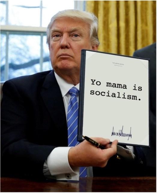 Trump_yomamasocialism
