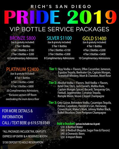 Pride VIP Packages