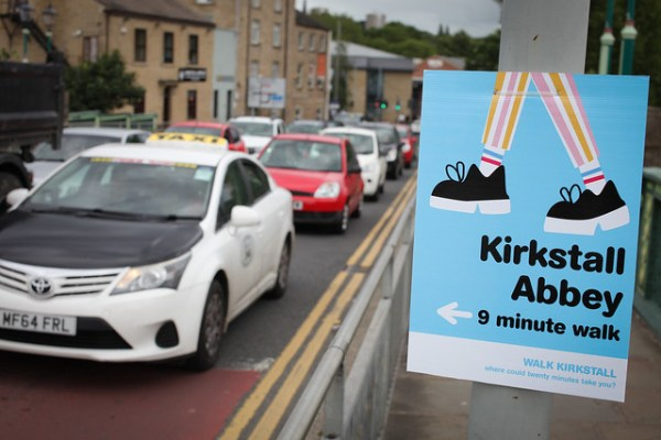 kirkstall walking sign