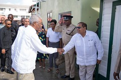 Prime MInister, Hon. Moses Nagamootoo greets President David Granger.