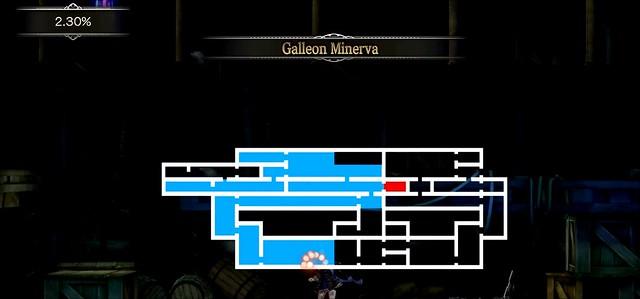 Заплямована кров'ю - карта галеону Мінерва