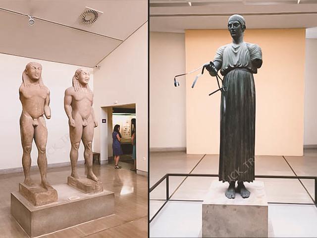 · Gemelos de Argos y Auriga de Delfos · Museo arqueológico de Delfos · Oráculo de Delfos · Grecia · Click_Trip ·