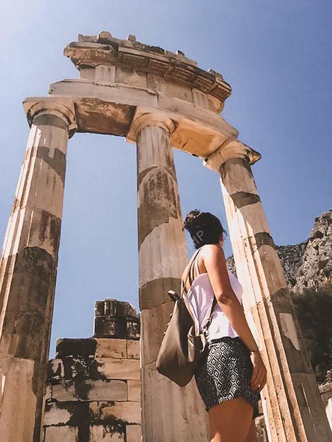 · Tholos en Santuario de Atenea Pronaia · Oráculo de Delfos · Grecia · Click_Trip ·