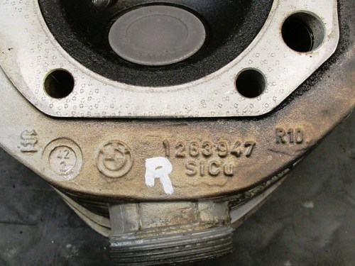 Right Head with Casting Number (1263947)