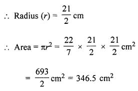 ML Aggarwal Class 7 Solutions for ICSE Maths Chapter 16 Perimeter and Area Ex 16.3 Q11