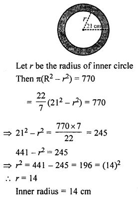 ML Aggarwal Class 7 Solutions for ICSE Maths Chapter 16 Perimeter and Area Ex 16.3 Q17.1