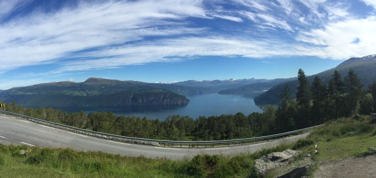 Scenic viewpoint, Norway